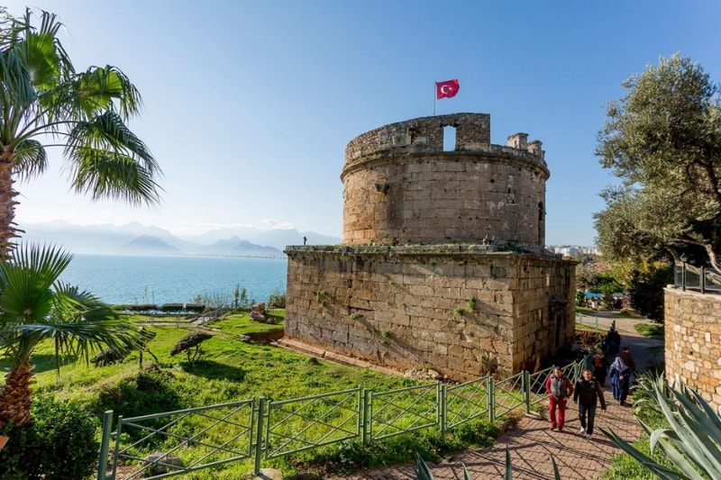 The Old Stone Tower in Antalya