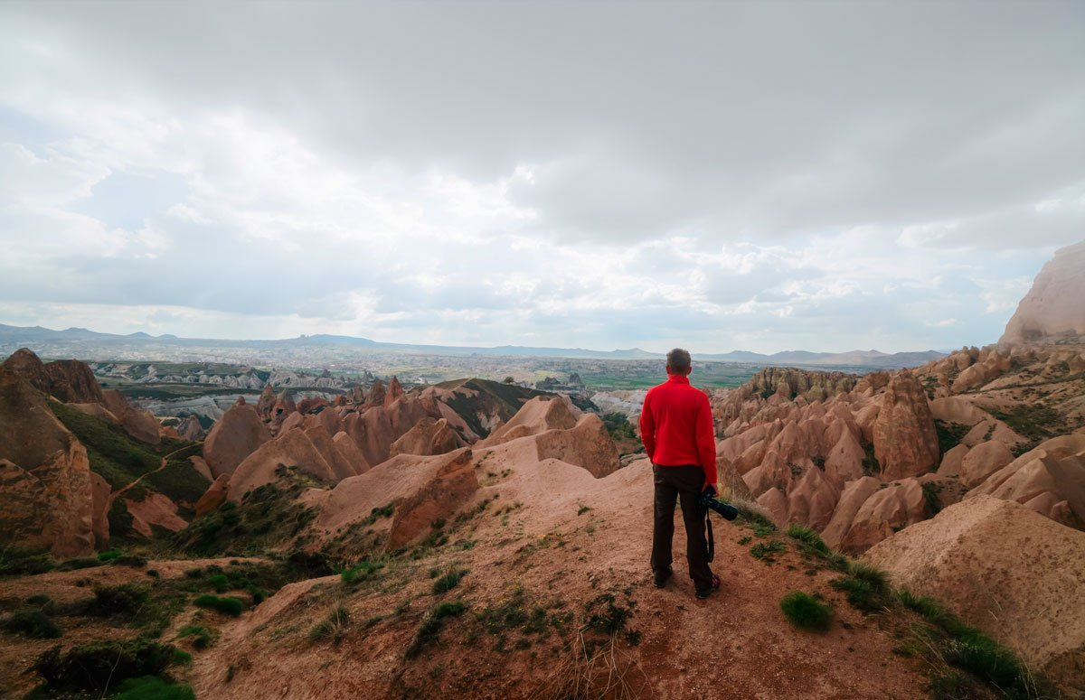 hiking in goreme Turkey